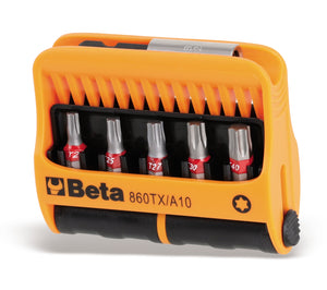 Beta Tools 860TX/A10  set of 10 bits with magnetic bit holder in plastic case