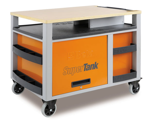 Beta Tool boxes C28 SuperTank trolley with worktop and ten drawers