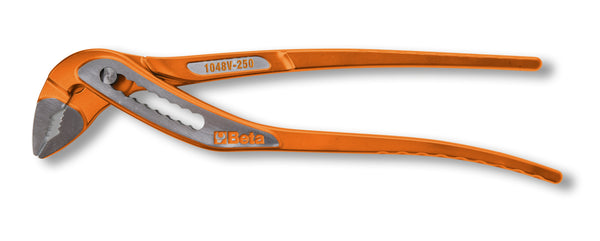 Beta Tools 1048V  slip joint pliers boxed joints, orange lacquered