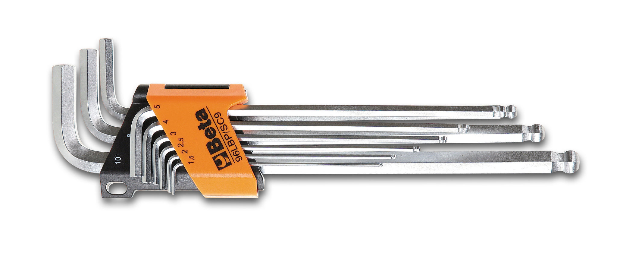 Beta Tools 96LBP/SC9  Set of 9 ball head offset hexagon key wrenches, extra-long model