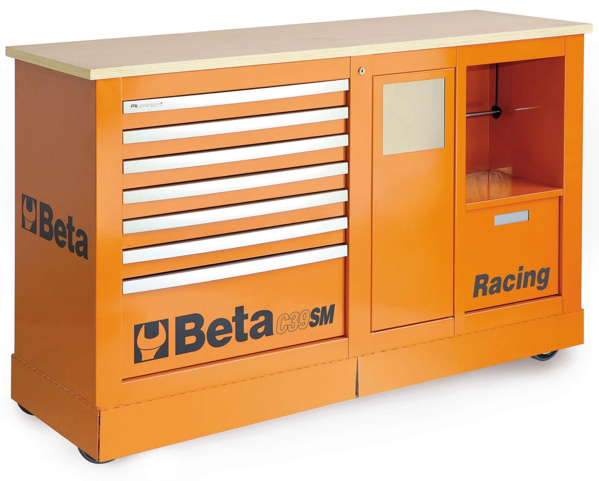 Beta Tool boxes C39SM Special mobile roller cab, Racing SM type
