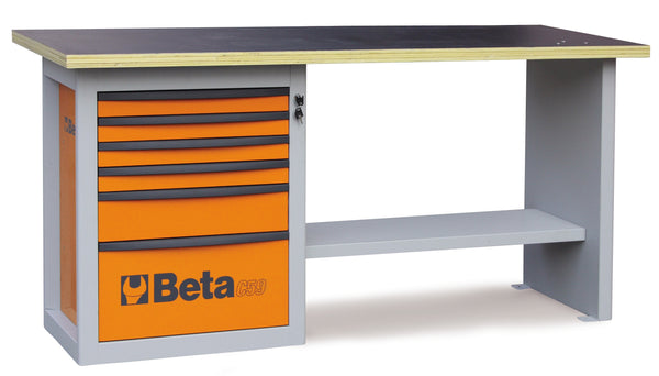 "Beta Workbenches C59A - 5900A Endurance"" workbench with 1 cab with six drawers"