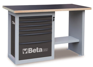 "C59C ""Endurance"" workbench with 1 cab with six drawers, short model"
