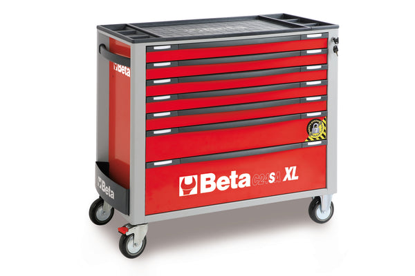 Beta Tool boxes C24SA-XL/7 Mobile roller cab with 7 drawers, with anti-tilt system, long model