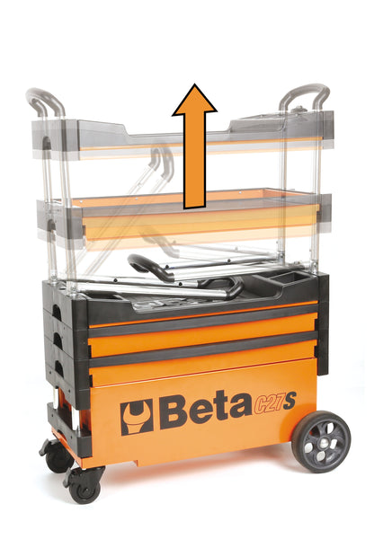 Beta toolboxes C27S Folding tool trolley for outdoor jobs