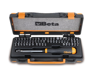 Beta Tools 861/C61P 61 bits and 1 magnetic quick release bit holder