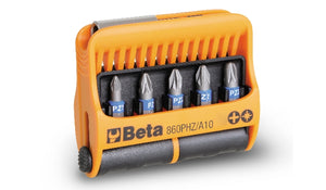 Beta Tools 860PHZ/A10 set of 10 bits with magnetic bit holder in plastic case