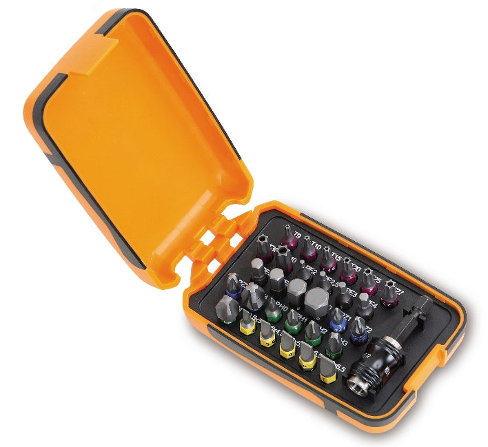 Beta Tools 860MIX/A31 Set of 30 bits with magnetic bit holder in plastic case