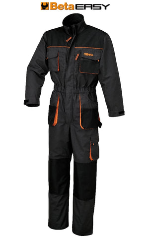 7905E Beta Work overalls in T/C canvas, 260 g/m2, Oxford insets, grey