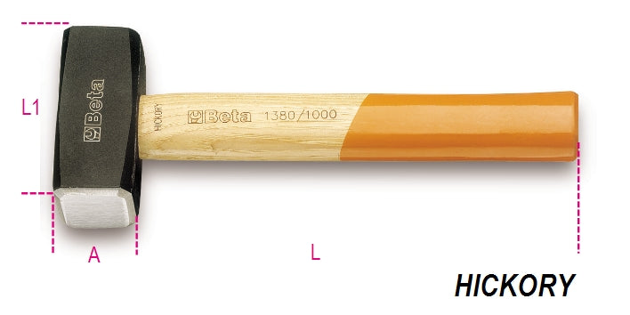 Beta Tools 1380  lump hammers, wooden shafts
