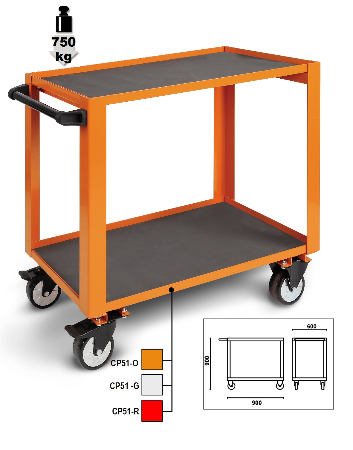 Beta Tool Boxes CP51 High-grade trolley