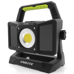 Unilite SP-4500 RECHARGEABLE SPEAKER WORKLIGHT 4500 Lumens Blue Tooth
