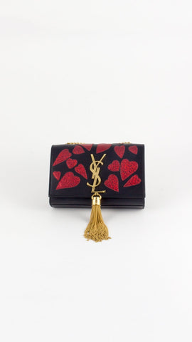 Limited Edition Heart Studded 'Kate' Tassel Satchel