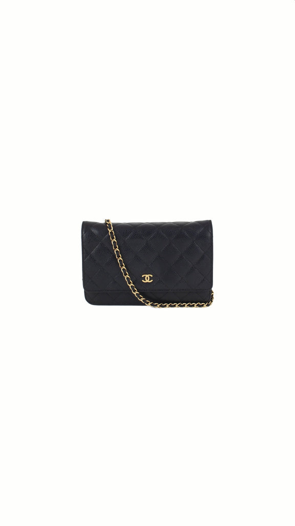 Quilted Caviar WOC Bag