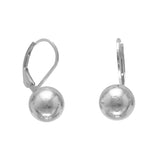10mm Ball Earring on Lever Back - LazerPoints.com