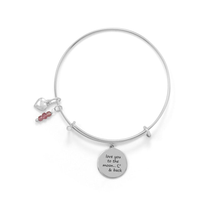 """Love You To The Moon And Back"" Bangle - LazerPoints.com"