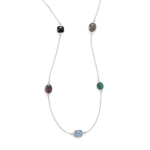 "22.5"" Multistone Necklace - LazerPoints.com"