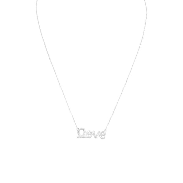 "16"" CZ ""love"" Necklace - LazerPoints.com"