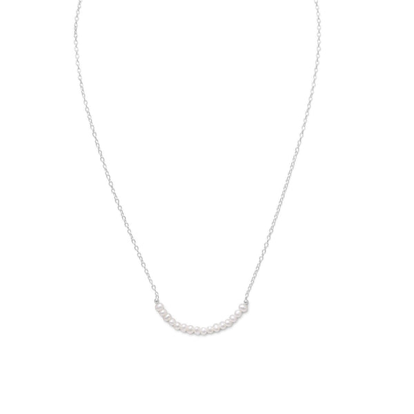 Cultured Freshwater Pearl Necklace - June Birthstone - LazerPoints.com