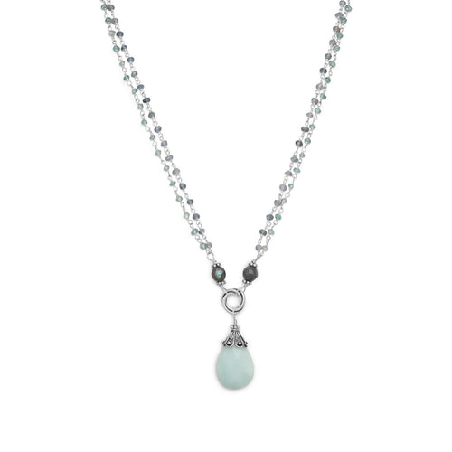 Baila Luna Mint Chocolate Drop Necklace - LazerPoints.com