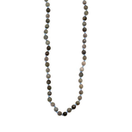 "38"" Endless Knotted Labradorite Necklace - LazerPoints.com"