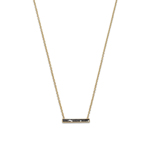 14 Karat Gold Plated Diamond Chip Necklace - LazerPoints.com