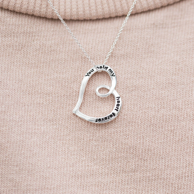 """You Hold My Heart Forever"" Necklace - LazerPoints.com"