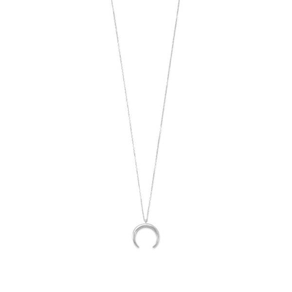 Sterling Silver Crescent Necklace - LazerPoints.com