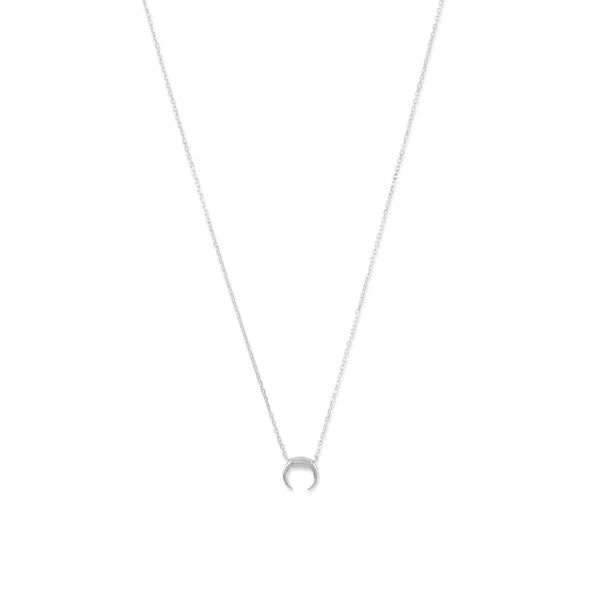 Silver Mini Crescent Necklace - LazerPoints.com