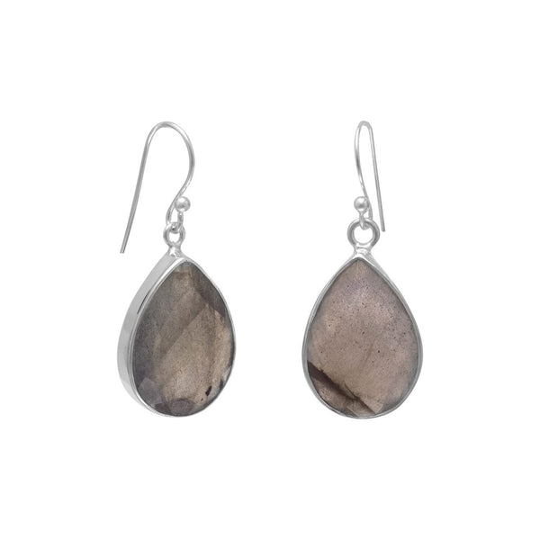 Faceted Labradorite French Wire Earrings - LazerPoints.com