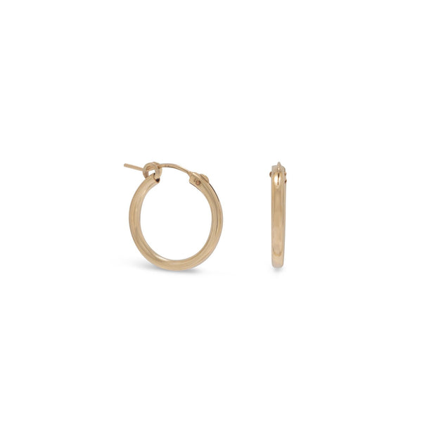 12/20 Gold Filled 2mm x 19mm Hoops - LazerPoints.com