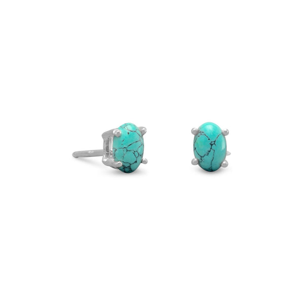 Stabilized Turquoise Stud Earrings - LazerPoints.com