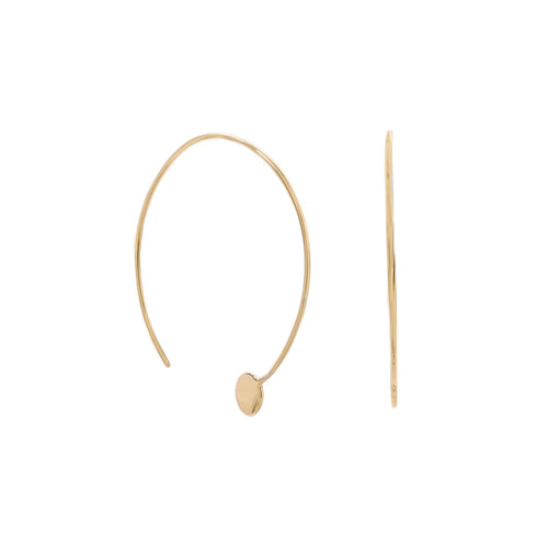 14 Karat Gold Plated Threader Dot End Earring - LazerPoints.com