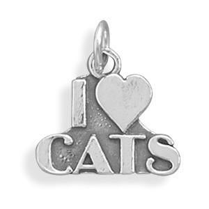 I love Cats Charm - LazerPoints.com