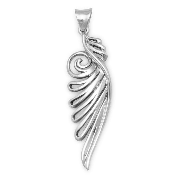 Ornate Angel Wing Pendant - LazerPoints.com