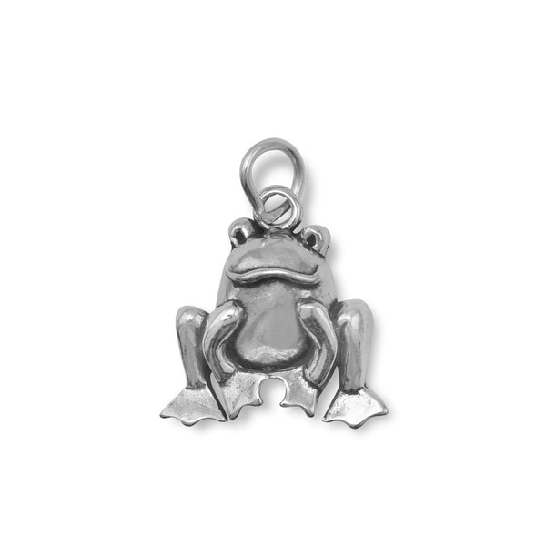 Cute Sitting Frog Charm - LazerPoints.com