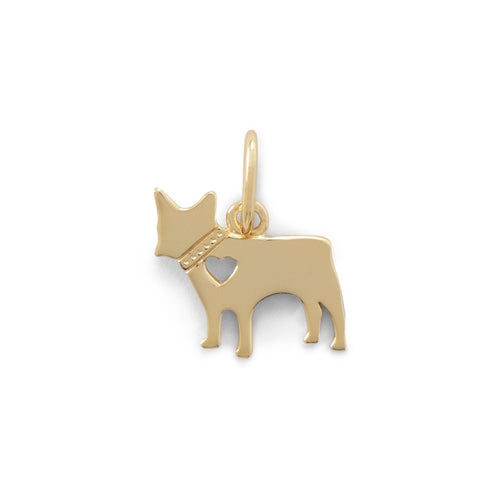 14 Karat Gold Plated Darling Dog Charm - LazerPoints.com