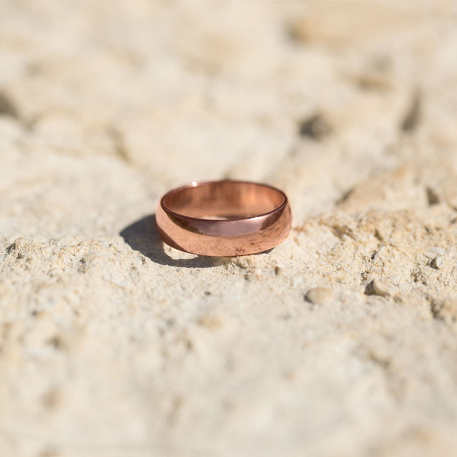 6mm Solid Copper Ring - LazerPoints.com