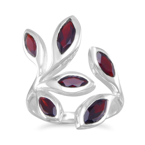 Wrap Around Garnet Ring - LazerPoints.com
