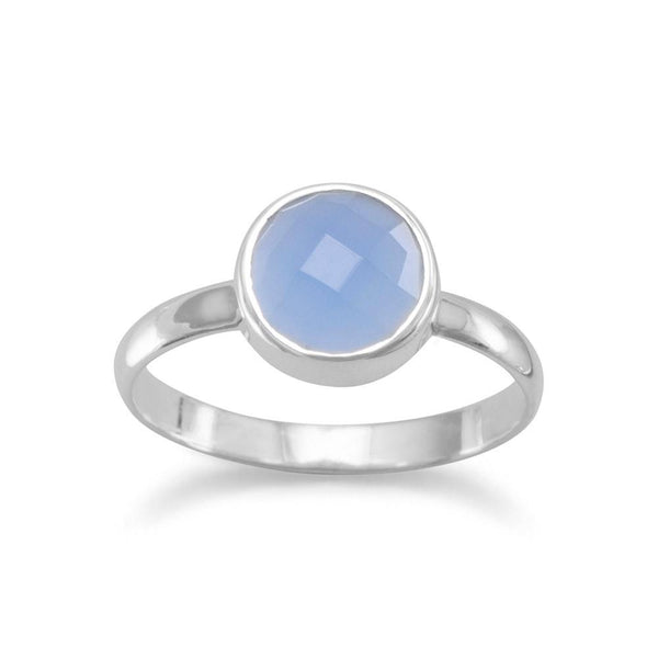 Faceted Chalcedony Stackable Ring - LazerPoints.com