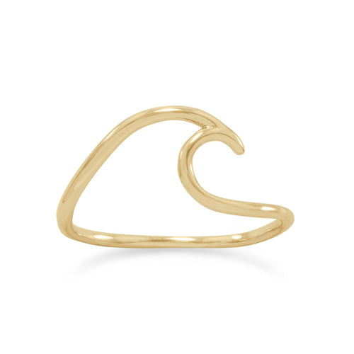 14 Karat Gold Plated Wave Ring - LazerPoints.com