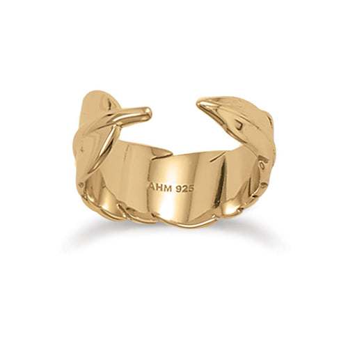 14 Karat Gold Plated Wrap Feather Ring - LazerPoints.com