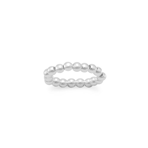 Silver Bead Stretch Toe Ring - LazerPoints.com