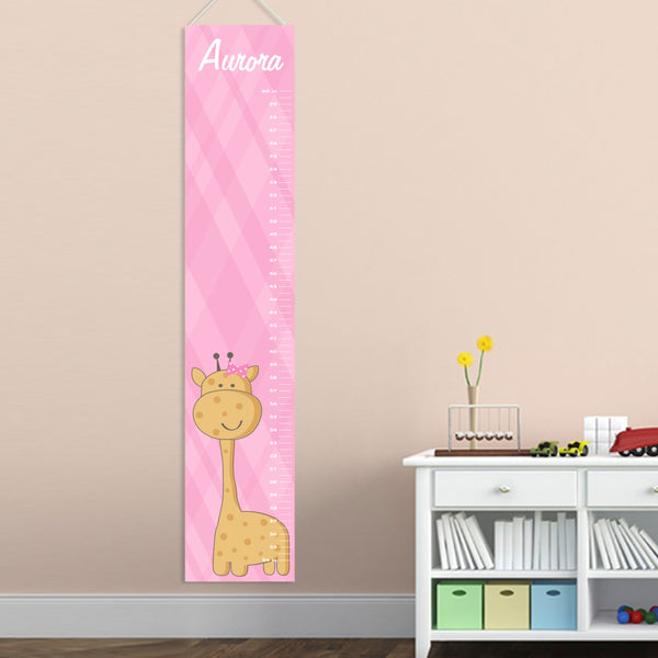 Kids Height Chart - Baby Girl Giraffe - LazerPoints.com