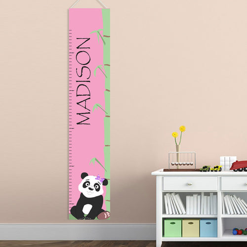 Kids Height Chart - Girl Panda - LazerPoints.com