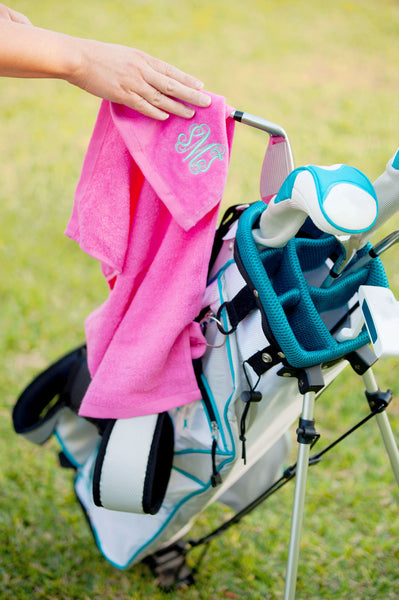 Hot Pink Golf Towel - LazerPoints.com