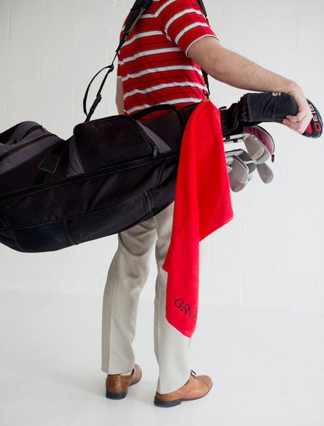 Red Golf Towel - LazerPoints.com