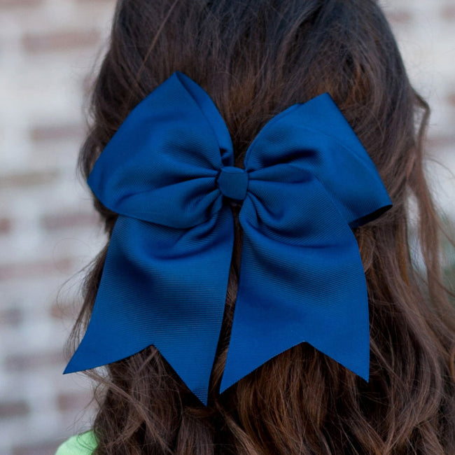 Navy Hair Bow - LazerPoints.com