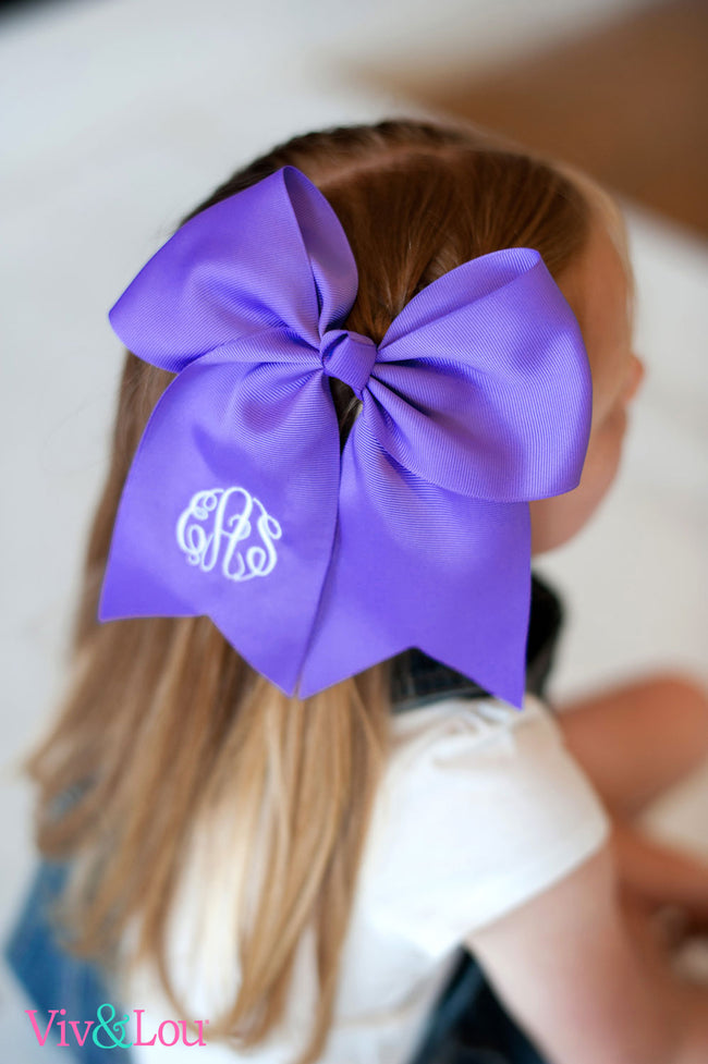 Purple Hair Bow - LazerPoints.com