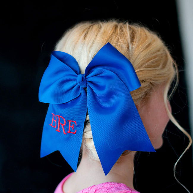 Royal Blue Hair Bow - LazerPoints.com